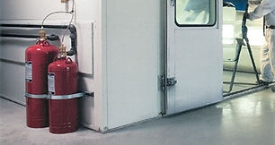 Vehcile Paint Booth Suppression Installation Inspection County Wide Extinguisher