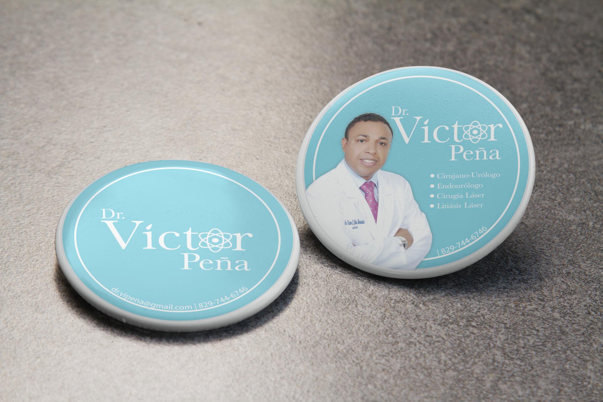 Logo & Blade Pin - Dr. Victor Peña