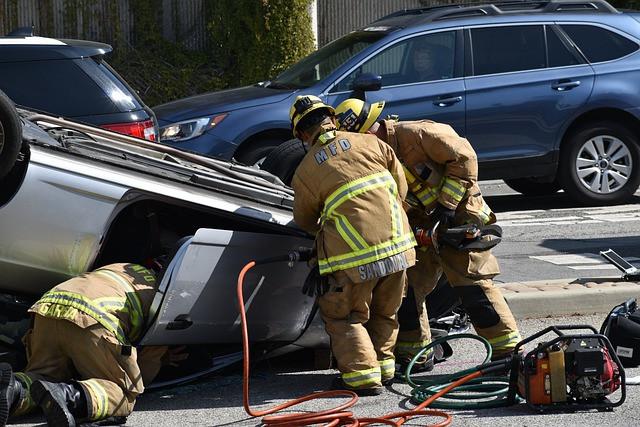 firemen-attending-a-car-accident-scene