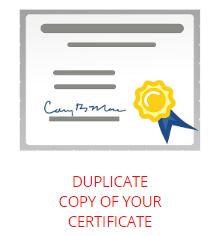 Certificate Duplicate