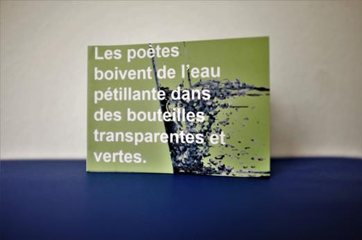 Les poètes boivent de l'eau