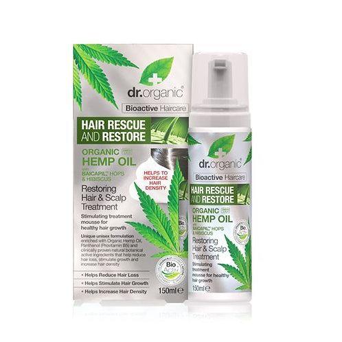 DR ORGANIC Rstring Hair & Scalp Treatment  Organic Hemp Oil 150ml