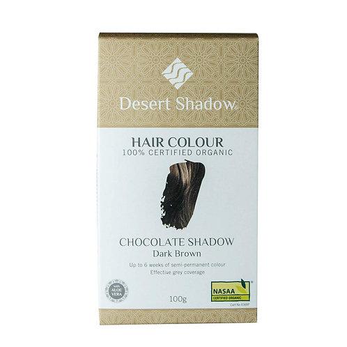 Desert Shadow Organic Hair Dye - Chocolate Shadow 100g Dark Natural Brown