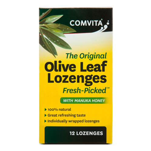 COMVITA - OLIVE LEAF EXTRACT Olive Leaf Extract  Lozenges With Manuka Honey 12 p