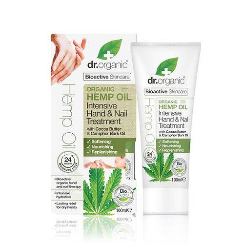 DR ORGANIC Intensive Hand & Nail Treatment  Organic Hemp Oil 100ml