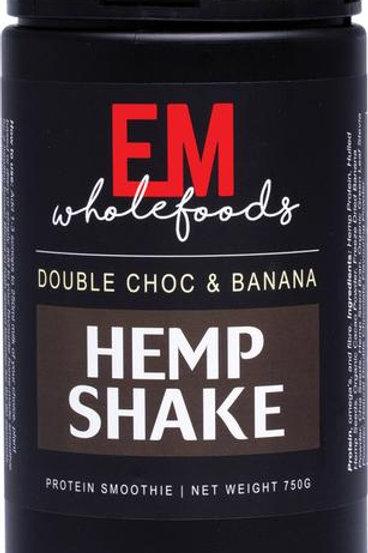 EM WHOLEFOODS Hemp Shake  Double Choc & Banana 750g