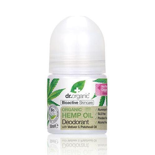 DR ORGANIC Roll-on Deodorant  Organic Hemp Oil 50ml