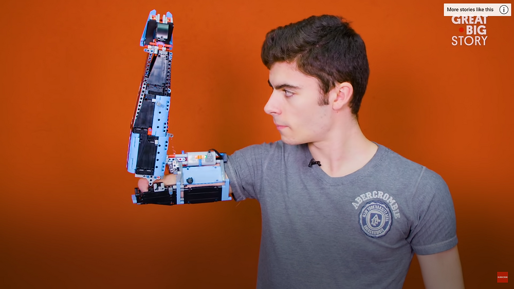 David Aguilar with MKii Lego Arm he invented