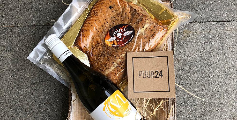 Gerookte zalm + Chardonnay