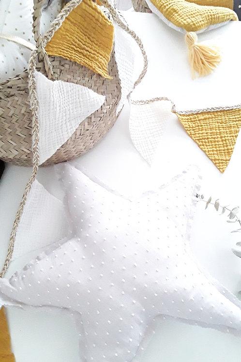 Coussin étoile gris / Coussin décoratif