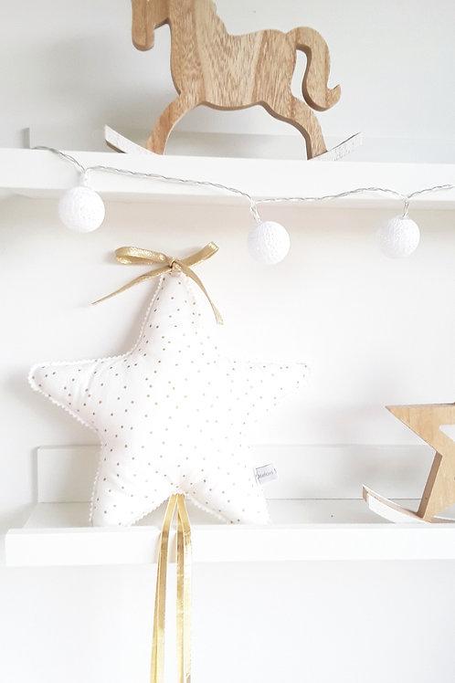 Coussin Etoile filante /suspension étoile doré