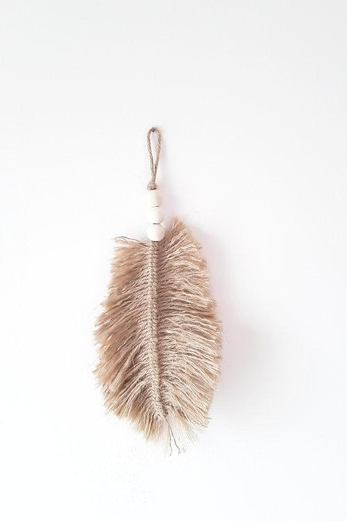 Plume jute naturel/décoration exotique , tendance