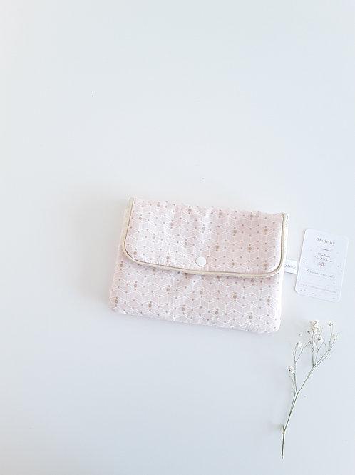 Pochette femme, pochette rose poudré