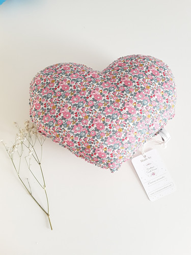 Coussin Coeur Liberty