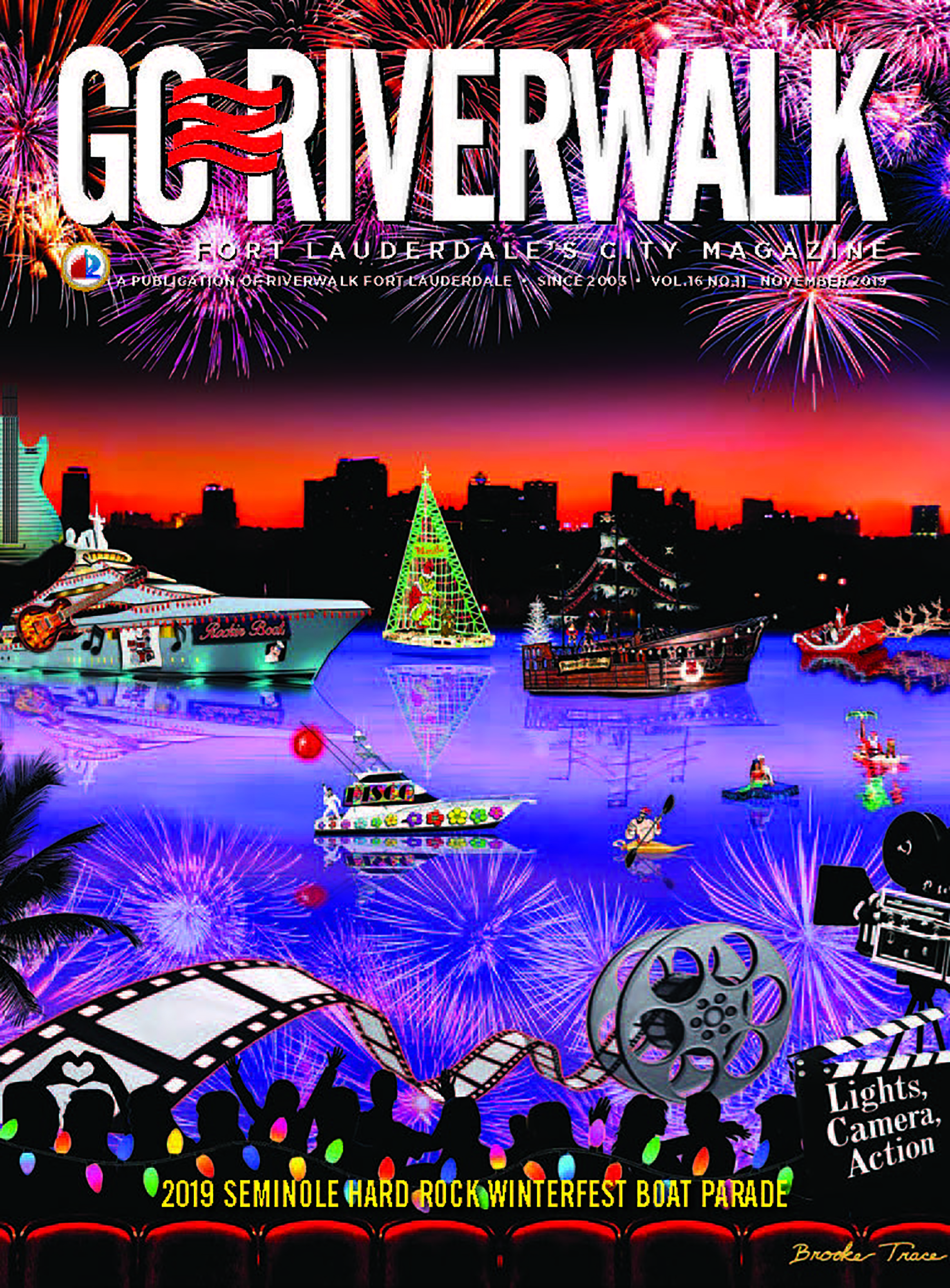 Go Riverwalk Seminole Hardrock Winterfest Boat Parade 2019
