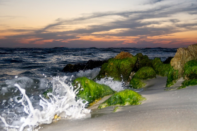 Sunset Crashing Waves