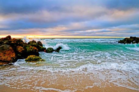 Waves Breaking Spray