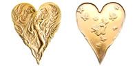 Heart Erte Art Medallion
