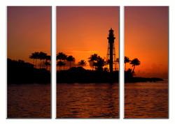 Lighthouse Sunrise Triptik