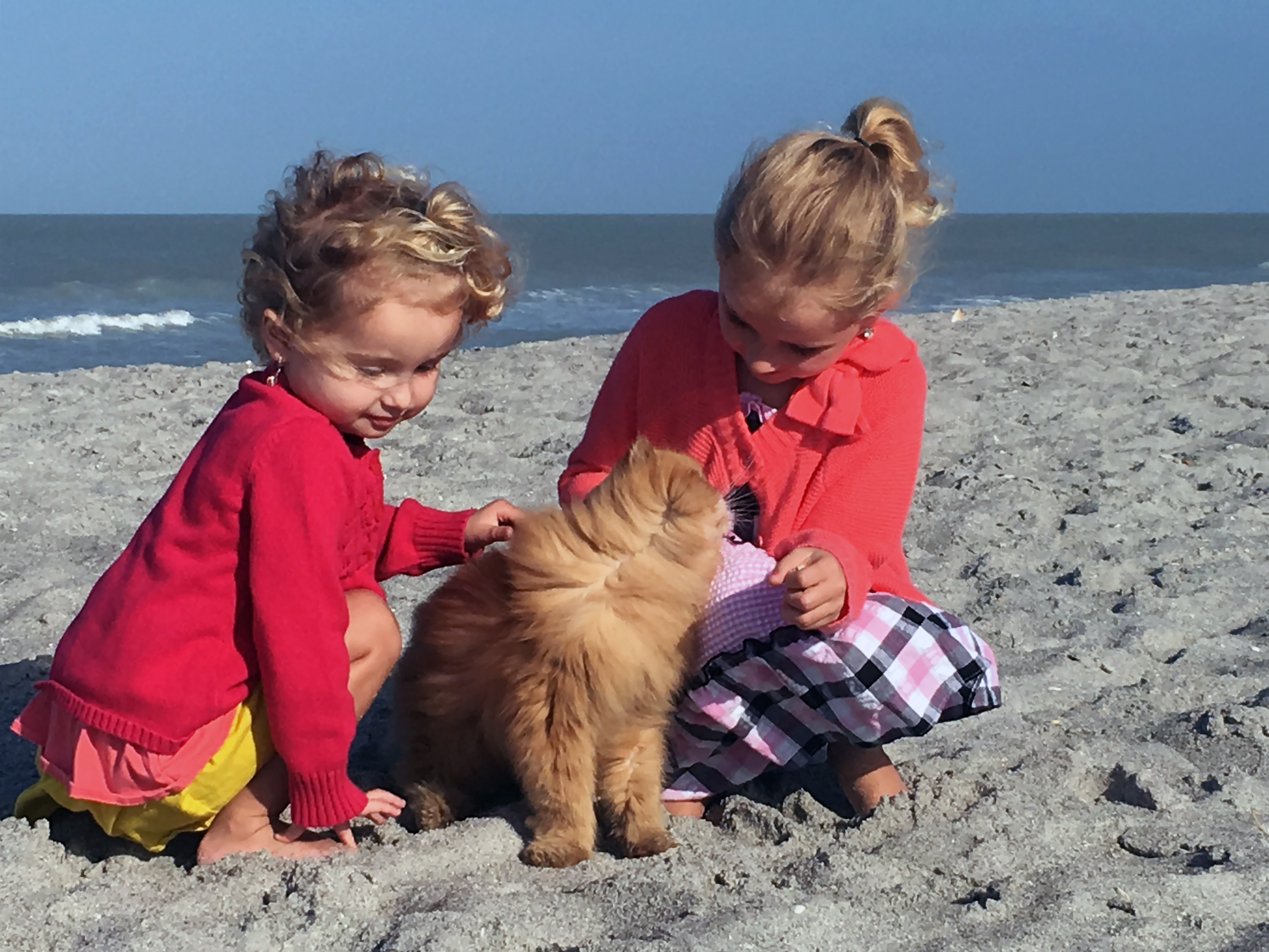 Lil Red With Girls on Beach