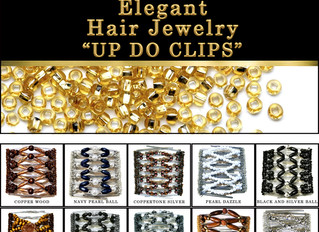 """Elegant Hair Jewelry """"Up do Clips"""""""