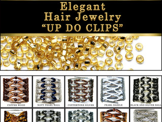 "Elegant Hair Jewelry ""Up do Clips"""