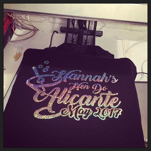 T-Shirts Sparkle,Chrome,Glitter.Fluorescent { Made 2 orde