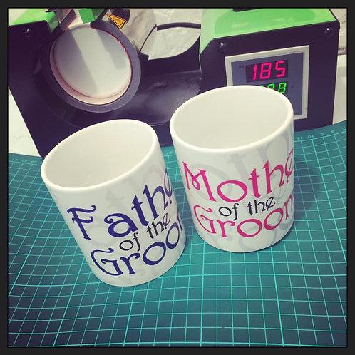 Mug Set #motherofthegroom #fatherofthegroom