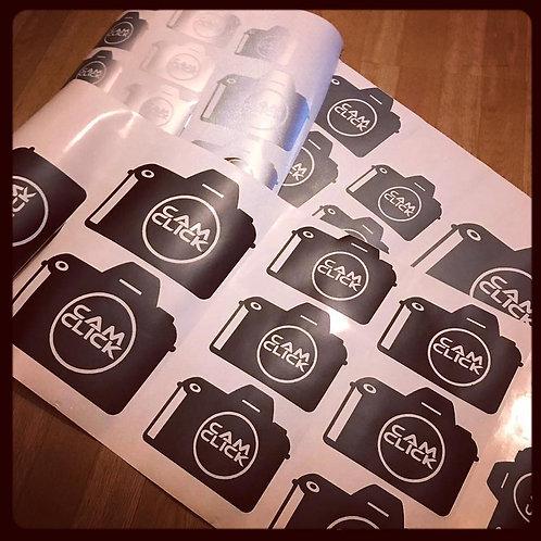 50 Vinyl Stickers various sizes (Matt Sign Vinyl)