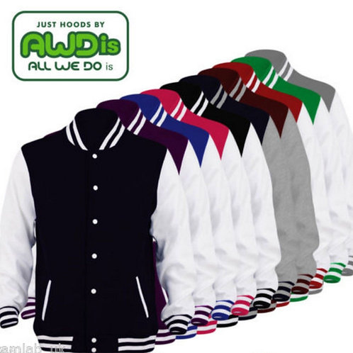 Adult Unisex Baseball Jacket