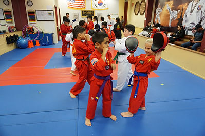 taekwondo martial arts children punching