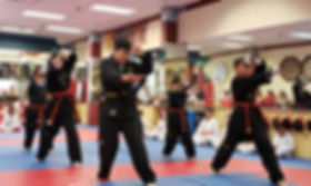 children taekwondo martial arts testing