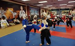 taekwondo martial arts children sparring