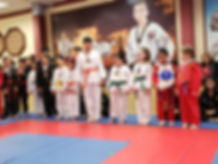 children taekwondo martial arts test
