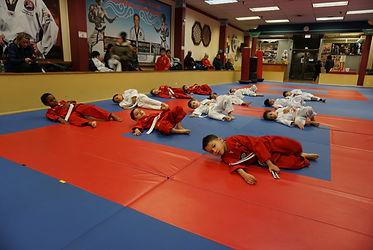taekwondo martial arts kids falling technic