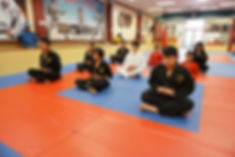 taekwondo martial arts children meditation