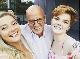 Gary Sutherland and his daughters