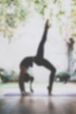 Gorgeous young woman practicing yoga ind