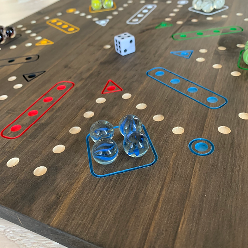 Aggravation wooden dice and marble board game