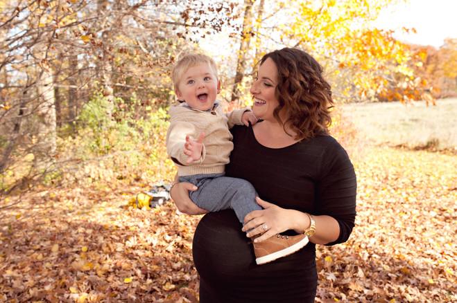 maternity fall expecting family