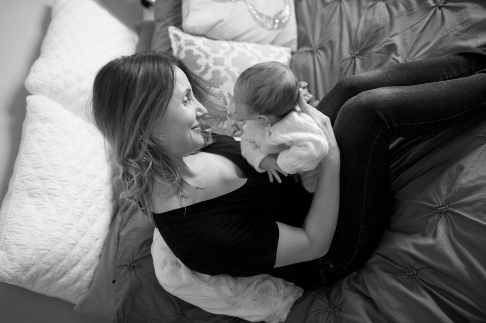Newborn mother lifestyle in home