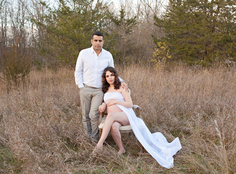 maternity expecting outside couple