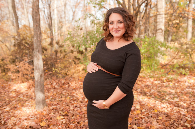 maternity outdoor field expecting family