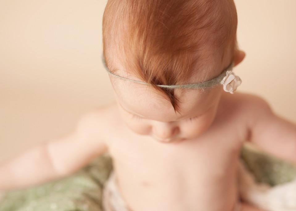 red hair milestone baby tieback