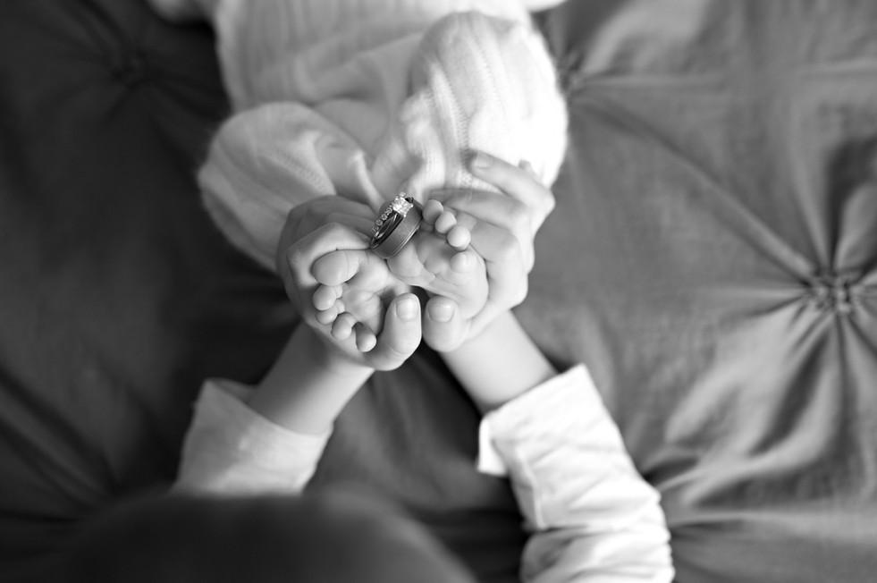 Newborn hands and feet