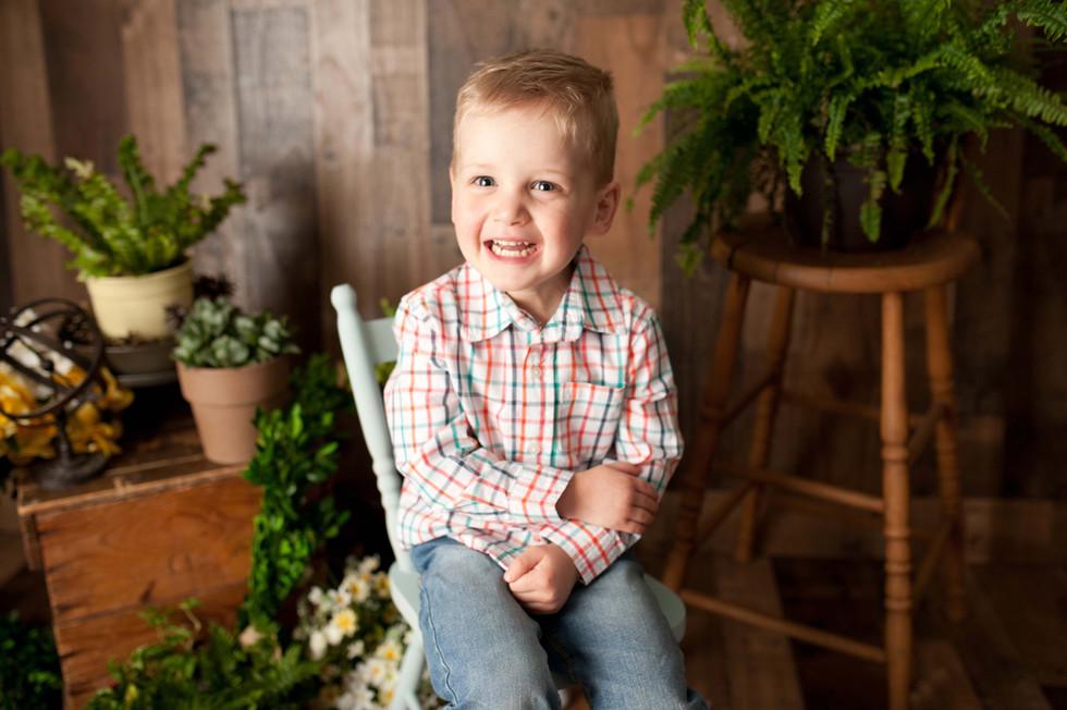 three year birthday in studio photography