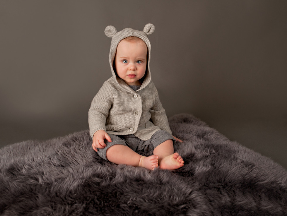 sitting baby birthday boy little bear baby gap