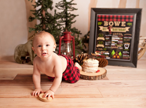 first birthday lumberjack theme outdoor woodsy theme