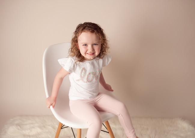 love birthday girl neutrals pink dainty huge smile