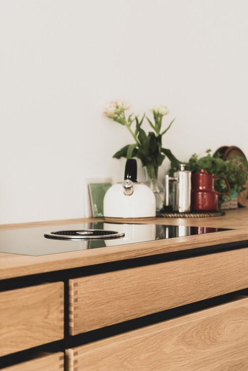 Keuken zwalustaart eiken Amsterdam NDSM